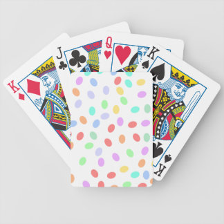 Puntos coloreados baraja cartas de poker