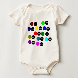 Puntos coloreados body para bebé