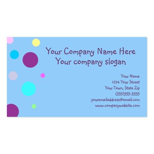 Puntos coloreados diversión tarjetas de negocios