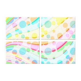 Puntos coloreados extracto impresión en lienzo