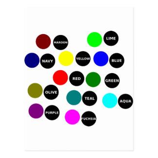 Puntos coloreados postal