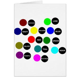 Puntos coloreados tarjeta de felicitación