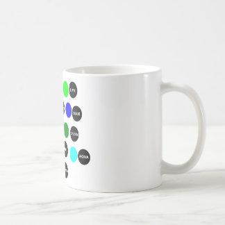 Puntos coloreados taza básica blanca
