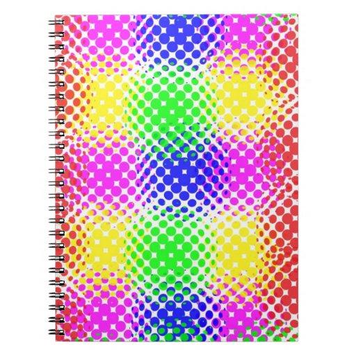 Puntos coloridos cuadernos