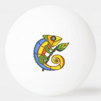 Puntos coloridos de la rama del lagarto de la pelota de ping pong