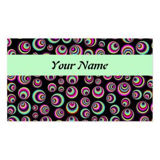 Puntos coloridos de Psych + su fondo y idea Plantilla De Tarjeta Personal