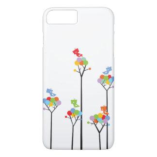 Puntos coloridos del árbol de la diversión de los funda iPhone 7 plus