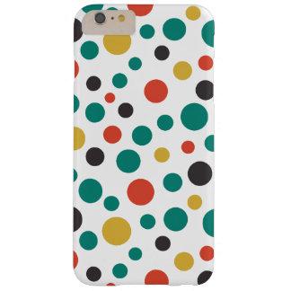 Puntos coloridos del arte del tamaño elegante funda de iPhone 6 plus barely there