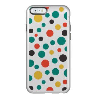 Puntos coloridos del arte del tamaño elegante funda para iPhone 6 plus incipio feather shine