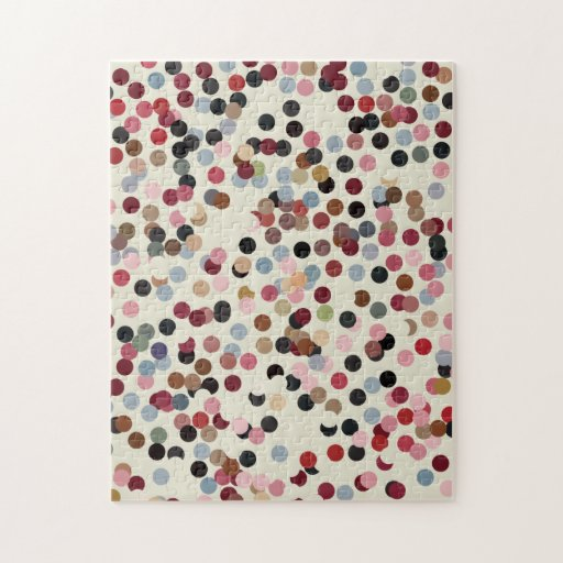 Puntos coloridos del confeti del tono de la joya puzzles
