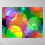 Puntos coloridos del disco impresiones