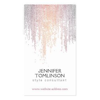 Puntos coloridos elegantes del confeti en blanco tarjetas de visita