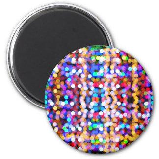 puntos coloridos iman de frigorífico