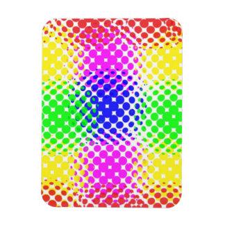 Puntos coloridos imán de vinilo