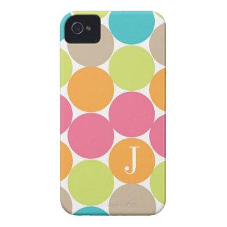 Puntos coloridos modernos personalizados iPhone 4 cárcasa