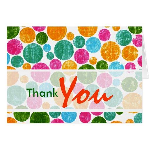Puntos coloridos - modificados para requisitos tarjeta de felicitación