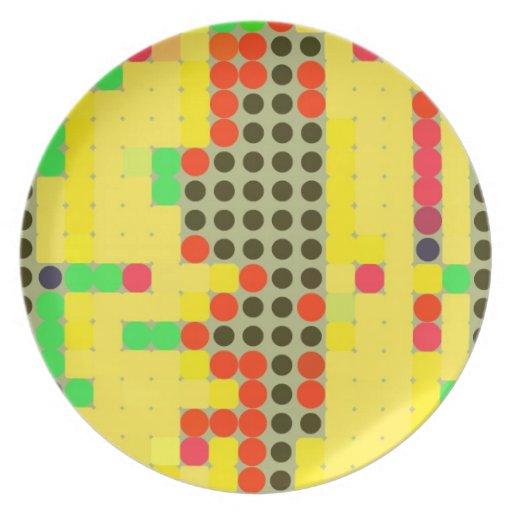 Puntos coloridos plato