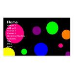 Puntos coloridos tarjeta de visita