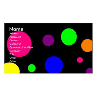 Puntos coloridos tarjetas de visita