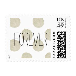 Puntos de la acuarela del oro que se casan para timbres postales