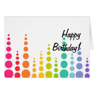Puntos de la burbuja del arco iris tarjeta de felicitación