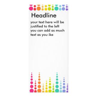 Puntos de la burbuja del arco iris tarjetas publicitarias a todo color