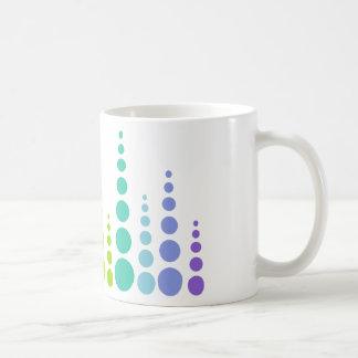 Puntos de la burbuja del arco iris taza