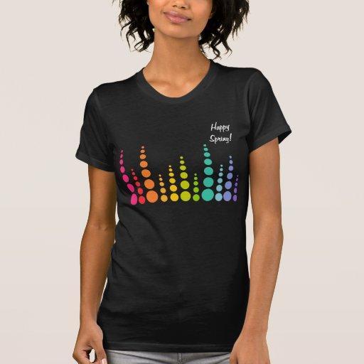 Puntos de la burbuja del arco iris tshirt