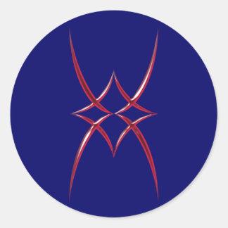 Puntos de la forma de Figur Spitzen Pegatina Redonda