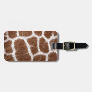 Puntos de la jirafa etiquetas para equipaje