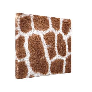 Puntos de la jirafa impresión en lienzo