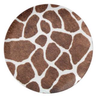 Puntos de la jirafa platos para fiestas