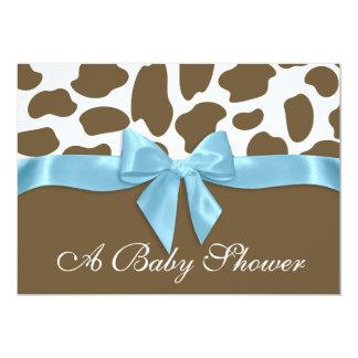 """Puntos de la jirafa y fiesta de bienvenida al bebé invitación 5"""" x 7"""""""