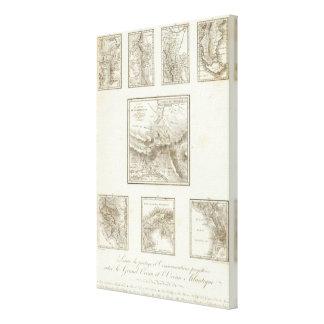 Puntos de la parte y comunicaciones proyectadas impresión en lona