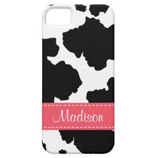 Puntos de la piel de la vaca iPhone 5 protector