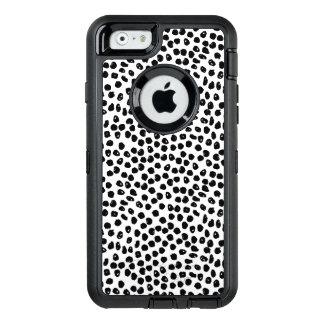 Puntos de la tinta - blancos/negro/Andrea Lauren Funda OtterBox Defender Para iPhone 6