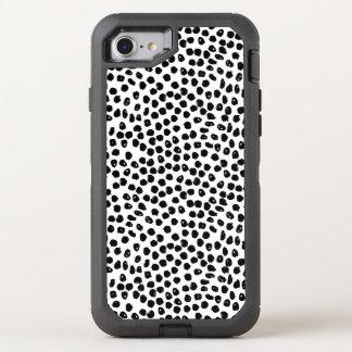 Puntos de la tinta - blancos/negro/Andrea Lauren Funda OtterBox Defender Para iPhone 7