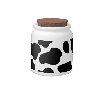 Puntos de la vaca jarra para caramelo