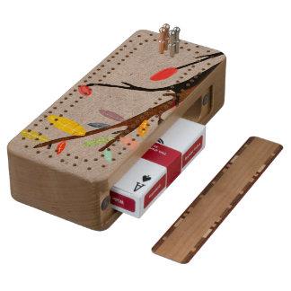 Puntos de madera del juego de tarjeta de la caja cribbage de cerezo