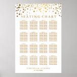 Puntos de moda del oro - carta del asiento póster