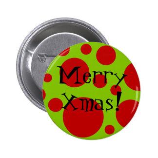 Puntos de Navidad Pin Redondo 5 Cm