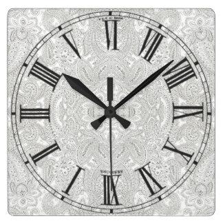 Puntos de Paisley Relojes De Pared