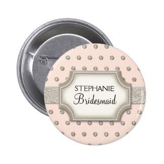 Puntos de plata de la joya de Champán del marco de Pin
