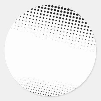 Puntos de semitono blancos y negros texturizados pegatina