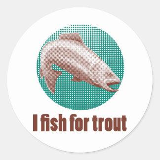 puntos de semitono de salto de los pescados de la etiquetas redondas