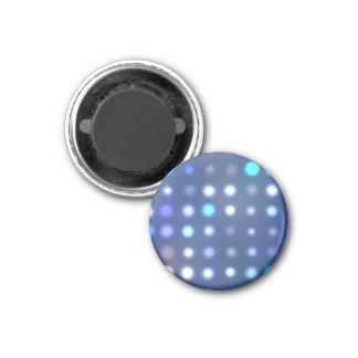 Puntos de semitono que brillan intensamente textur imán redondo 3 cm