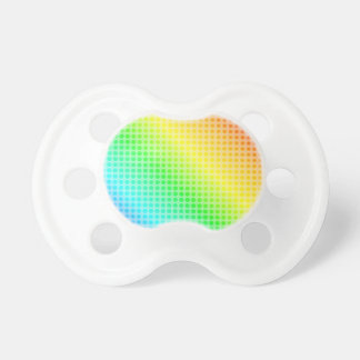 Puntos del arco iris chupete de bebé