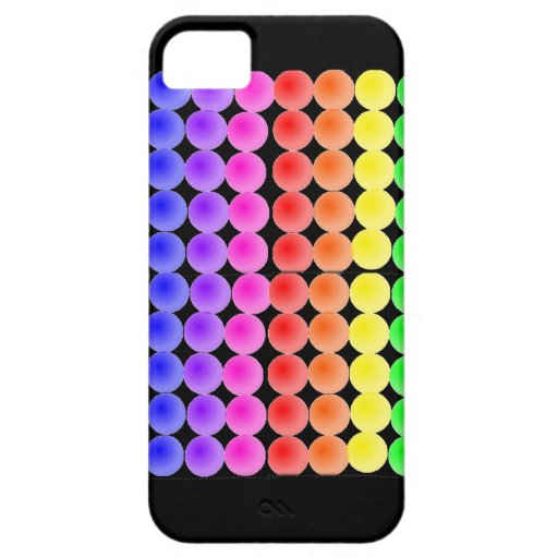 puntos del arco iris funda para iPhone 5 barely there