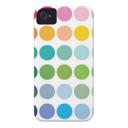 puntos del arco iris iPhone 4 Case-Mate carcasa
