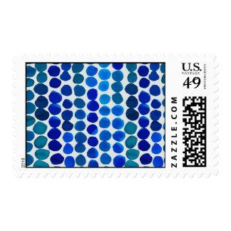 ¡Puntos del azul de los sellos! Sellos